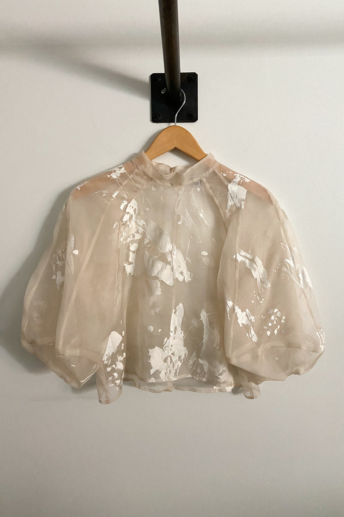 Hand Painted Meiere Blouse