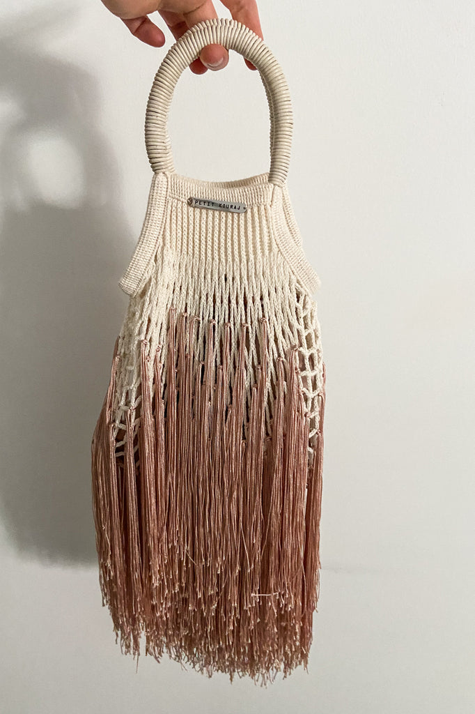 Ombre Tan Mini Fringe Bag