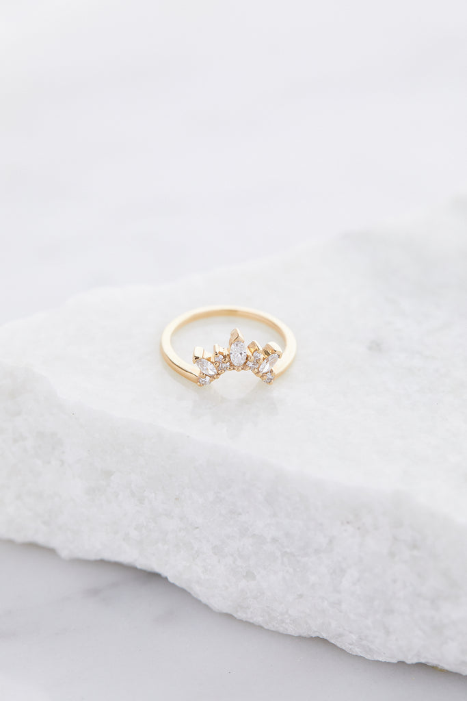 Marquise Butterfly Tiara Band