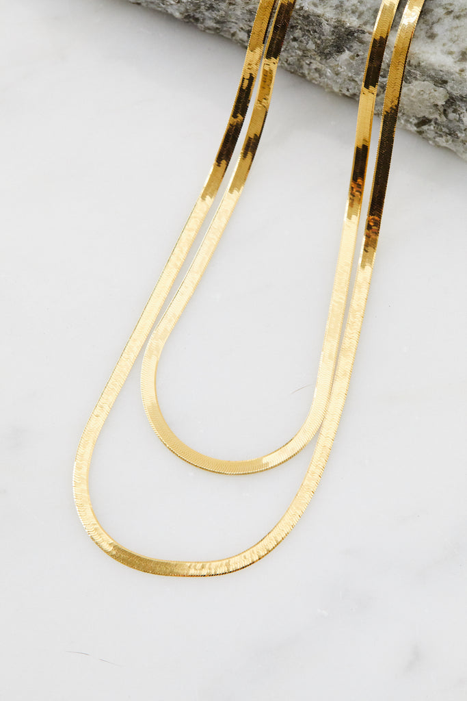 14K Herringbone Chain, 18""