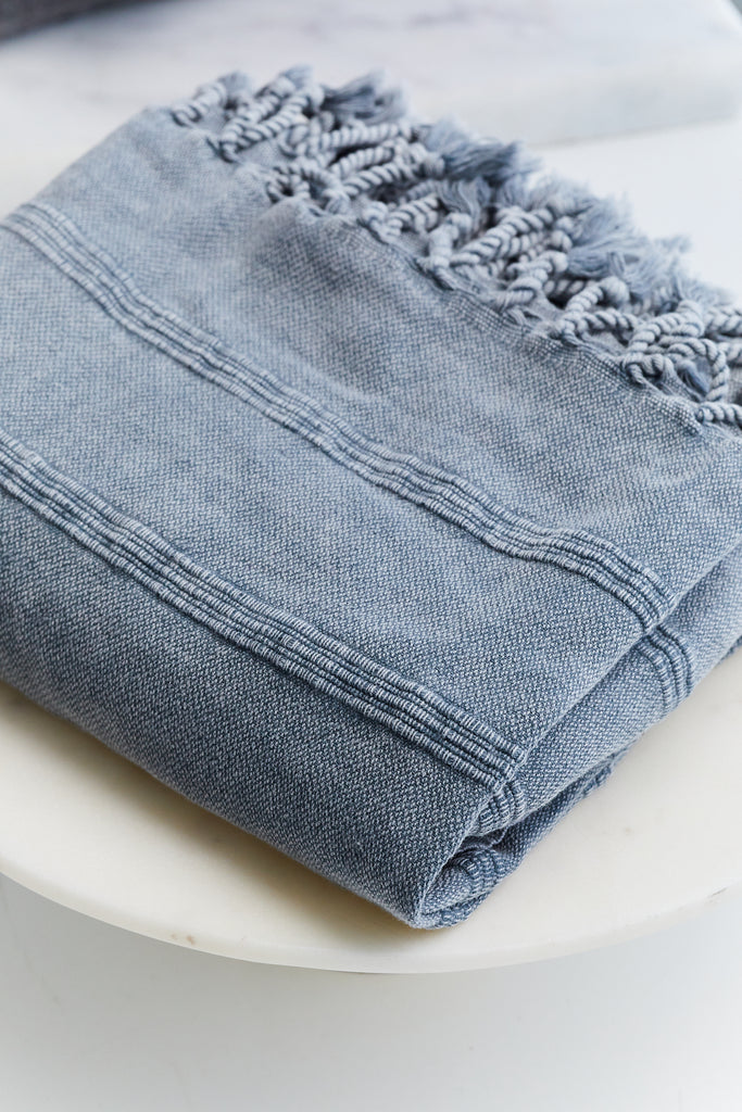 Faded Denim Turkish Peshtemal