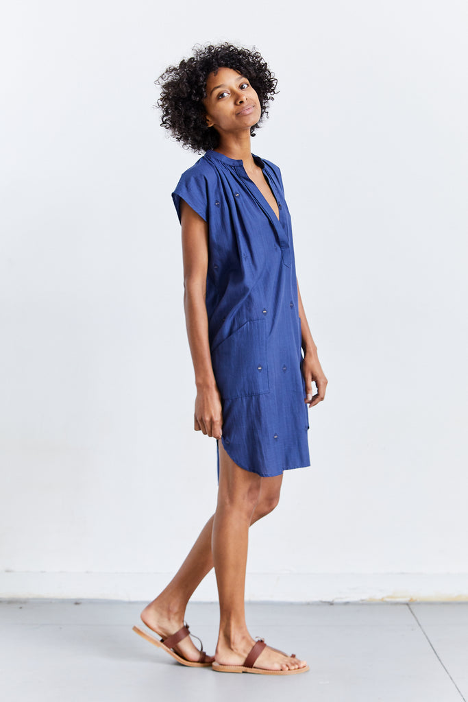 Diamond Metallic Tunic, Blue, O/S