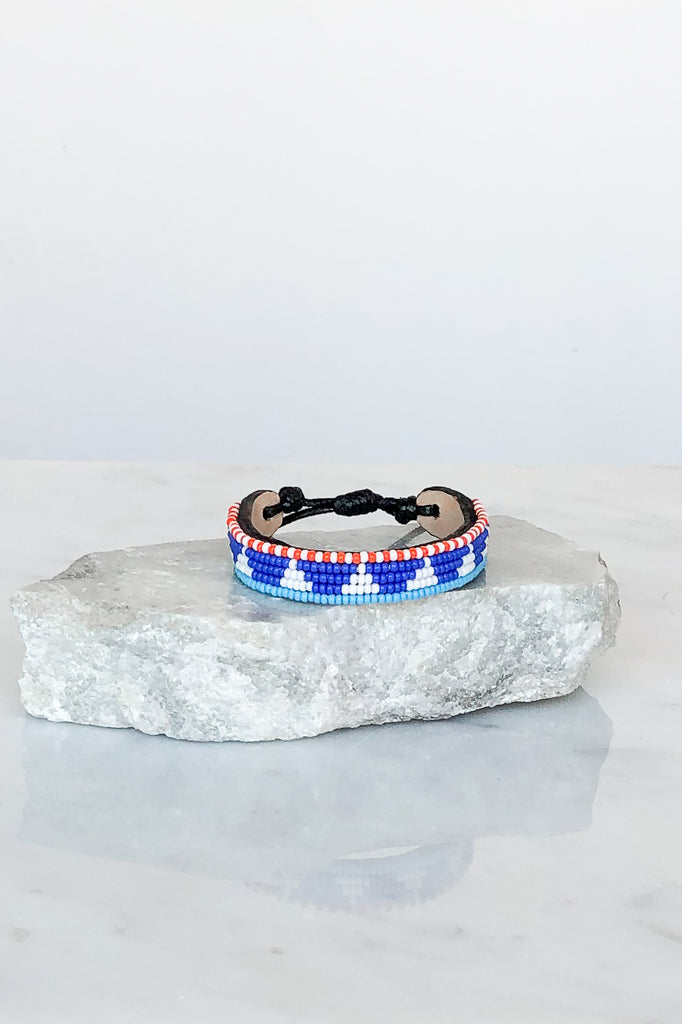 Cornflower Blue Piramidi Bracelet
