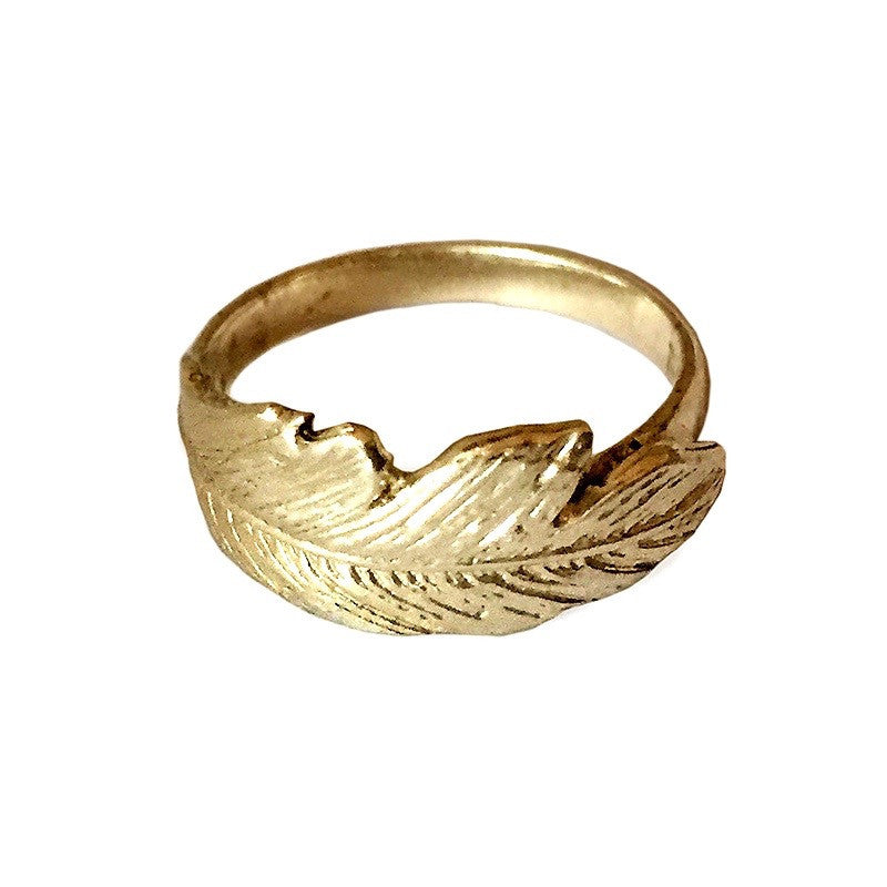 Feather Pinky Ring
