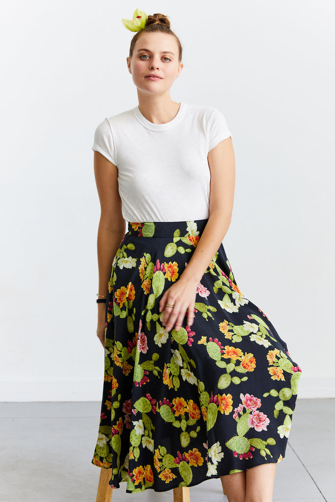 Silk Riding Skirt