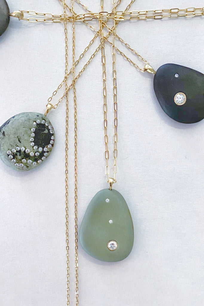 Green CVC Stones Necklace Sunroom