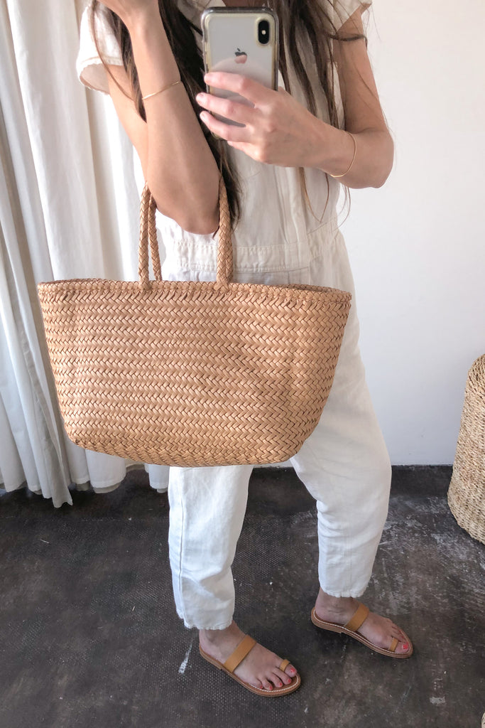 Grace Basket Bag, Natural