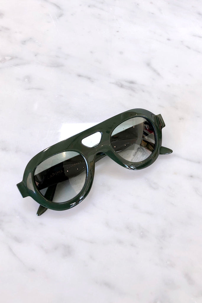 Milly Sunglasses, Tropical Green