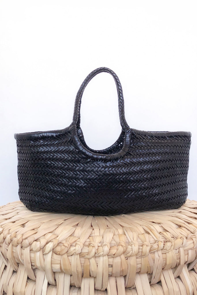 Nantucket Basket Bag, Black