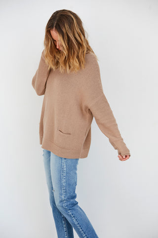Pocket Boatneck Pullover