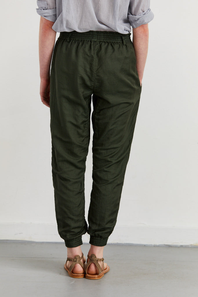 Patched Satin Joggers