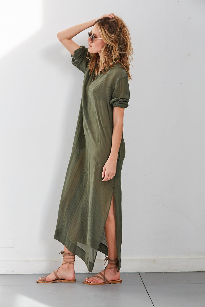 Gandu Dress, Khaki, O/S