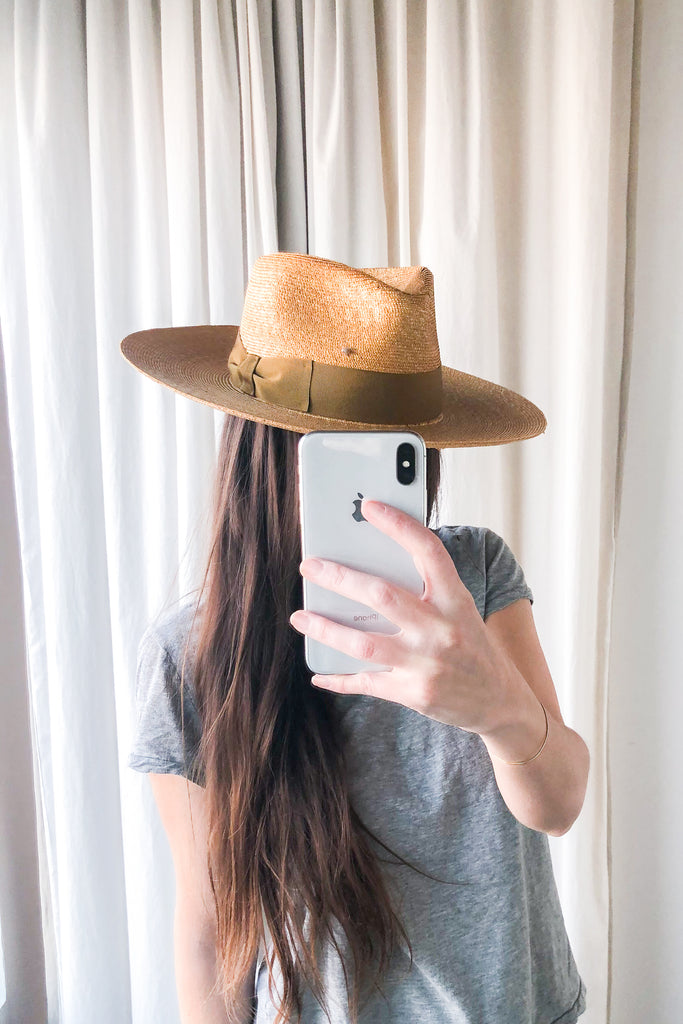 Grateful, Gold Braided Wheat Hat