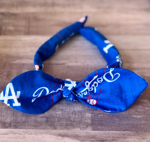 Dodgers knotted headband