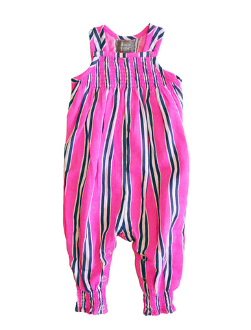KIDSCASE CANDY STRIPED ORGANIC PLAYSUIT