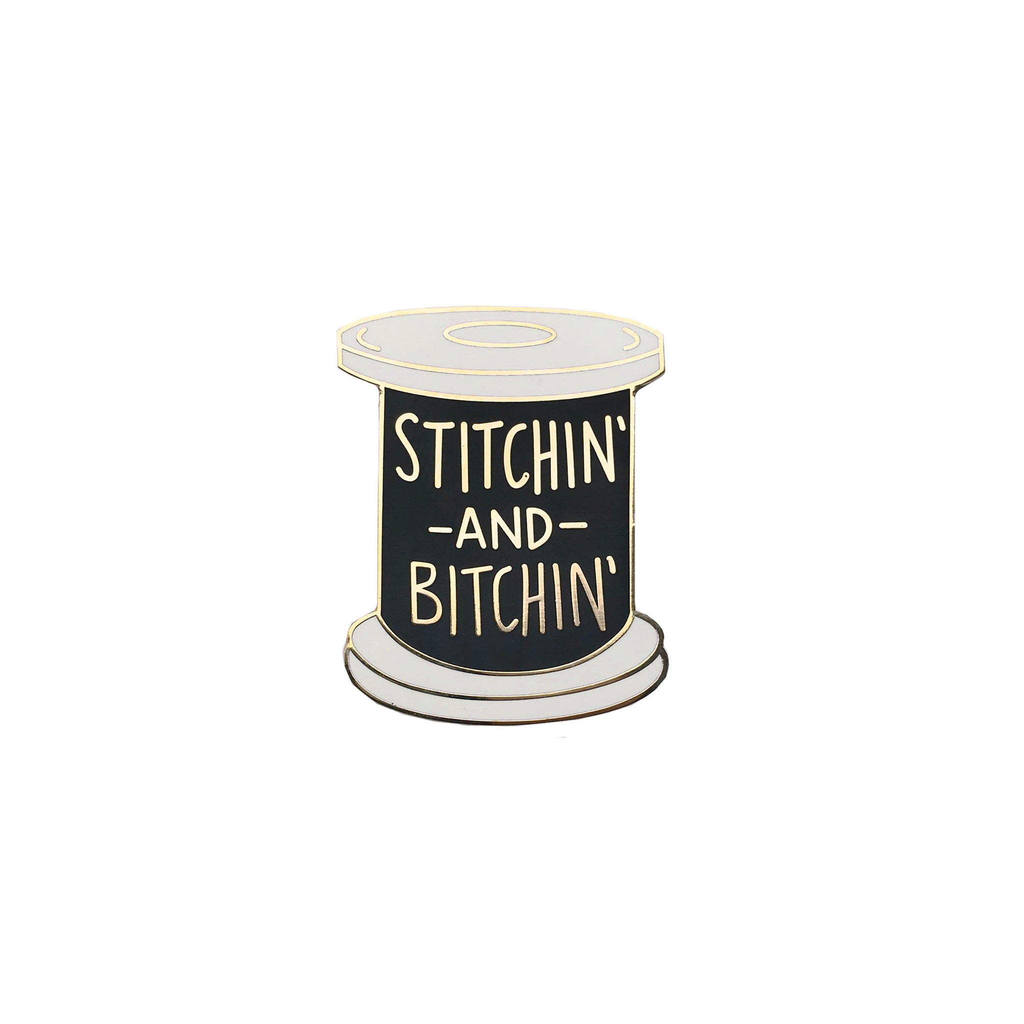 STITCHIN ENAMEL PIN