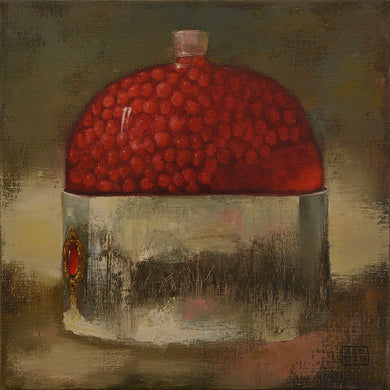 Eduard Zentsik BOTTLE WITH RED BERRIES