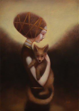 Eduard Zentsik GIRL AND FOX
