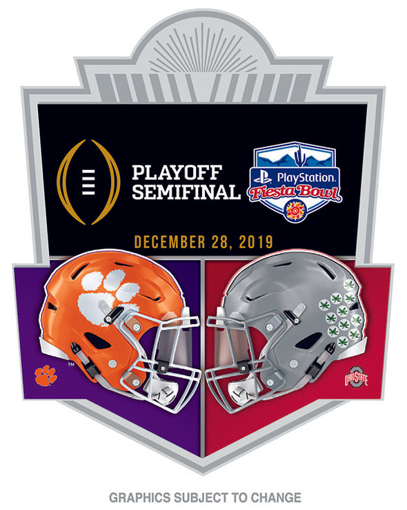 Ohio State Buckeyes  V Clemson Tigers 2019 Fiesta Bowl Lapel Pin