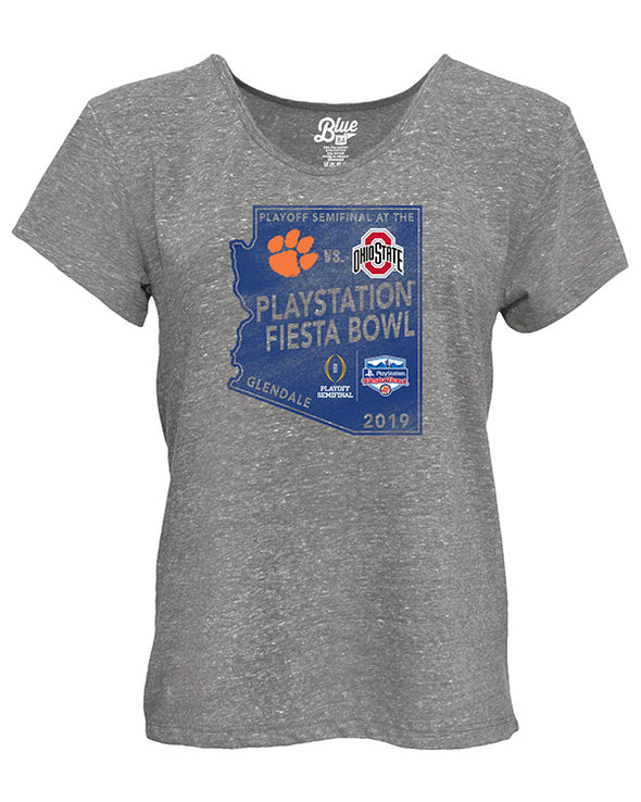 Ohio State Buckeyes V Clemson Tigers 2019 Fiesta Bowl Women's Short Sleeve T-Shirt