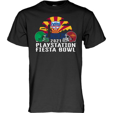 Oregon Ducks vs Iowa State Cyclones 2021 PlayStation Fiesta Bowl Short Sleeve T-Shirt