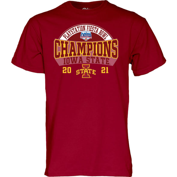 Iowa State 2021 PlayStation Fiesta Bowl Champs Short Sleeve T-Shirt