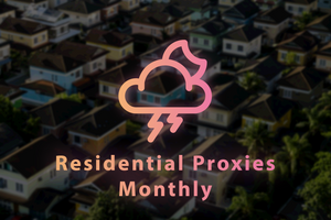 MONTHLY Residential Proxy Data Plan