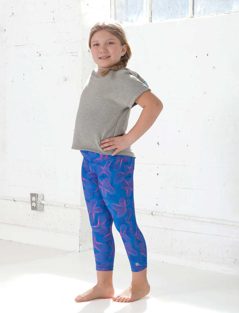 GIRLS 2-6 GEO WAVE CAPRI LEGGING