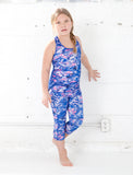 GIRLS 2-6 TEXTURED CAMO CAPRI LEGGING
