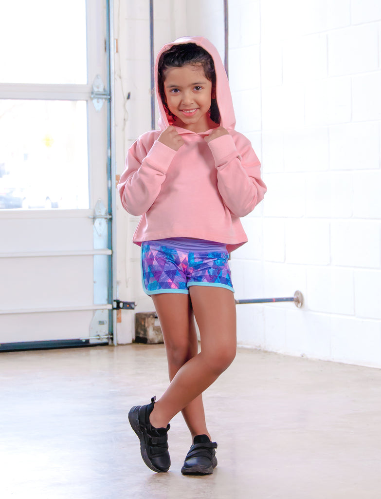 GIRLS 2-6 CROPPED HOOD