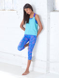 GIRLS GEO WAVE CAPRI LEGGING