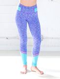 GIRLS HEATHERED MESH PANEL LEGGING