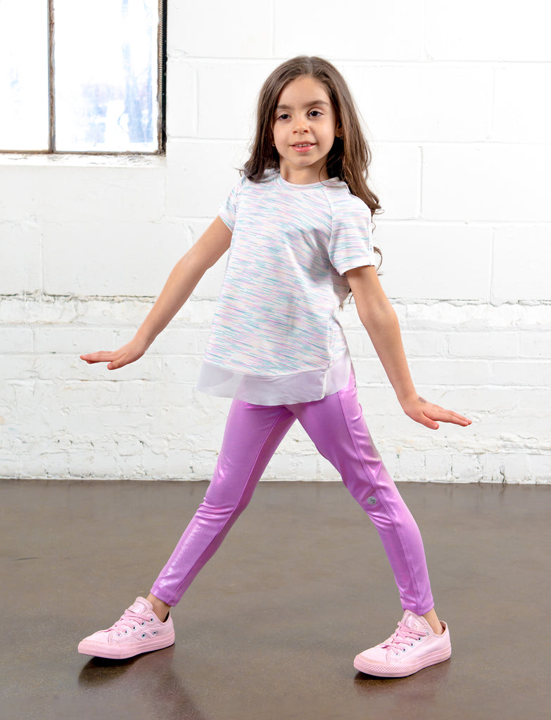 GIRLS 2-6 IRIDESCENT LEGGINGS