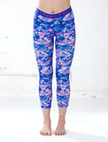 GIRLS TEXTURED CAMO CAPRI LEGGING