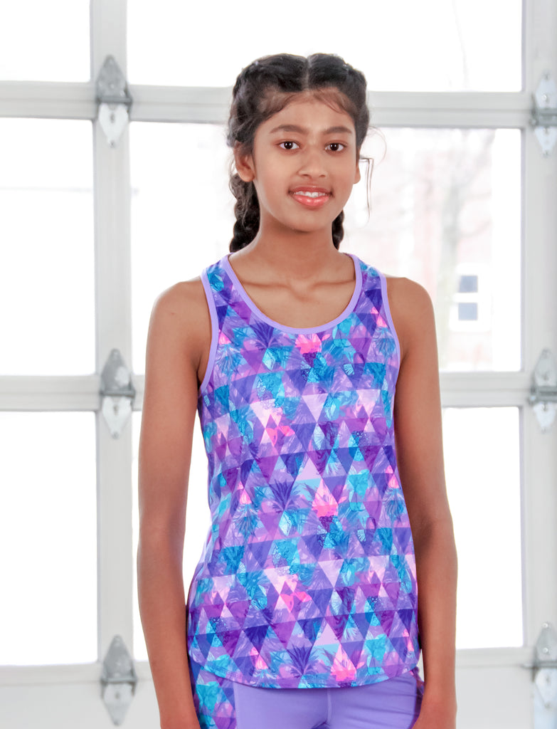 GIRLS SCOOPED RACERBACK TANK
