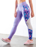 LADIES HIGH RISE SIDE PANELLED LEGGINGS