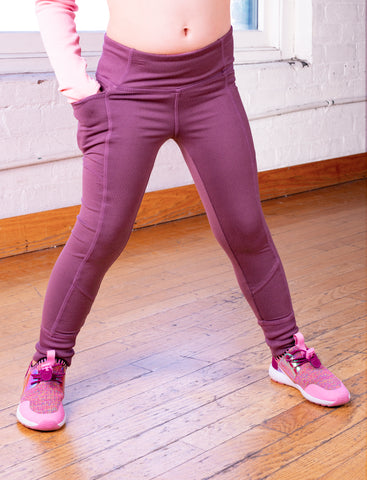 GIRLS 2-6 SIDE POCKET LEGGING