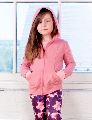 GIRLS 2-6 SIGNATURE  ZIP FRONT HOODY