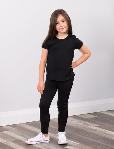 GIRLS 2-6 SCOOPED HEM ACTIVE T-SHIRT