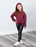 GIRLS 2-6 LEATHER LIKE LEGGING