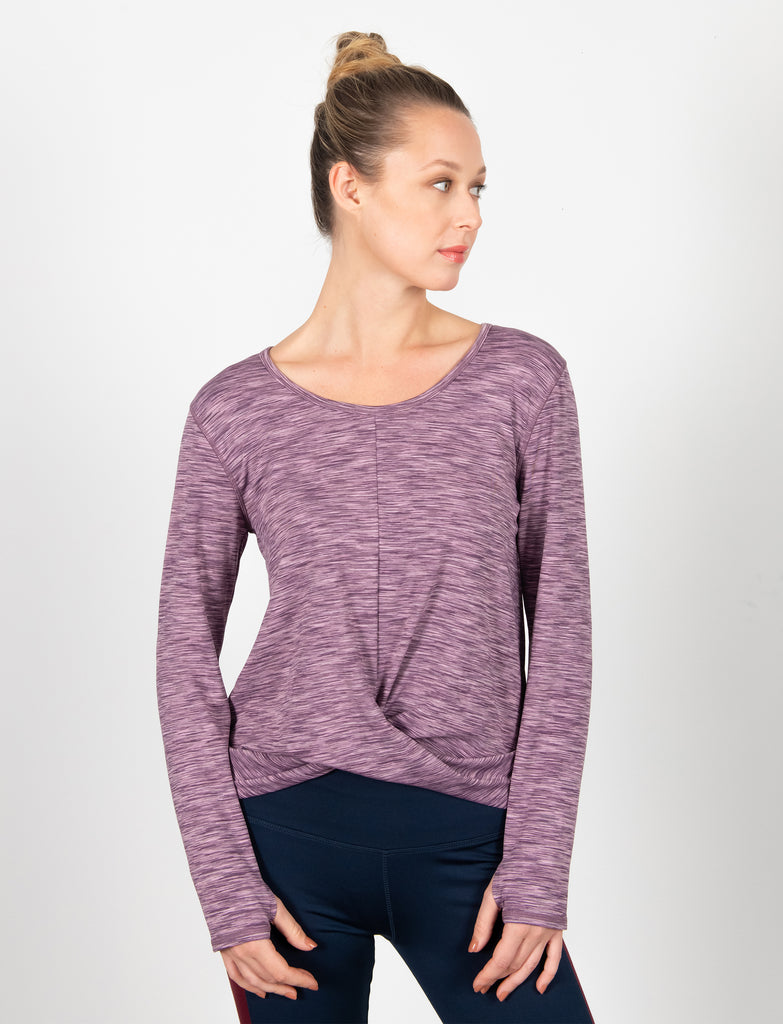 LADIES WRAP FRONT T