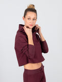 LADIES CROP HOODED SWEATSHIRT