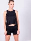 LADIES RELAXED CROP TANK