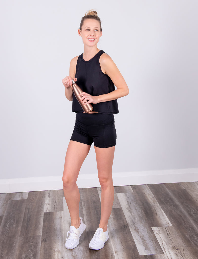 LADIES SIDE POCKET YOGA SHORT