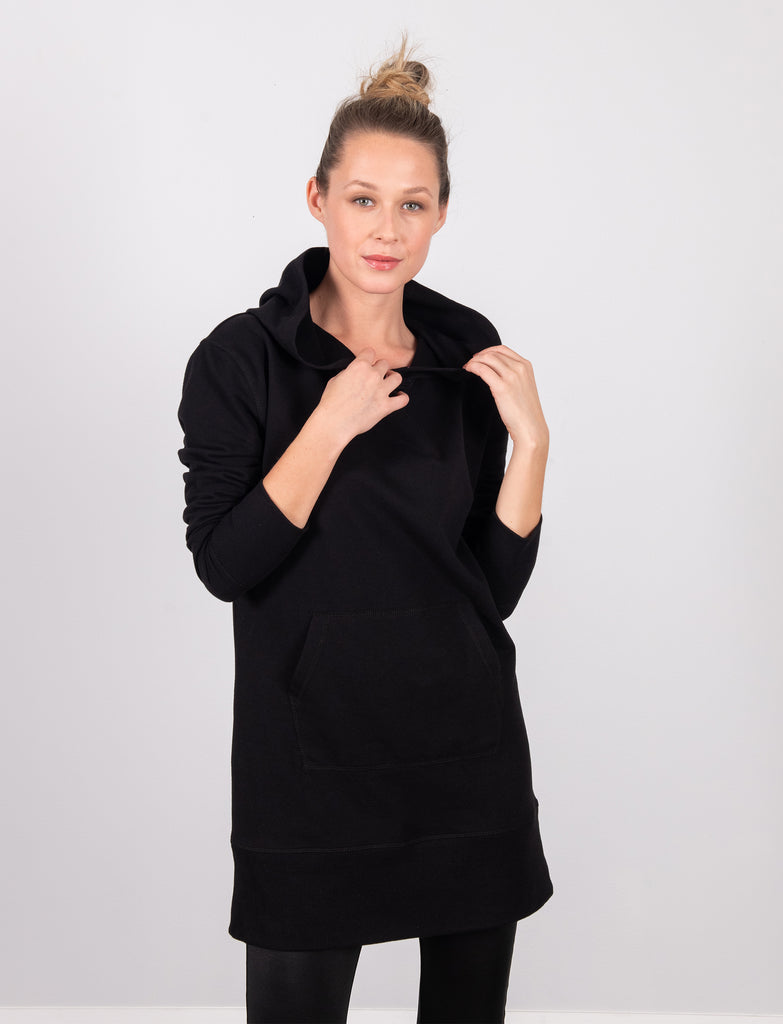 LADIES HOODED TUNIC DRESS