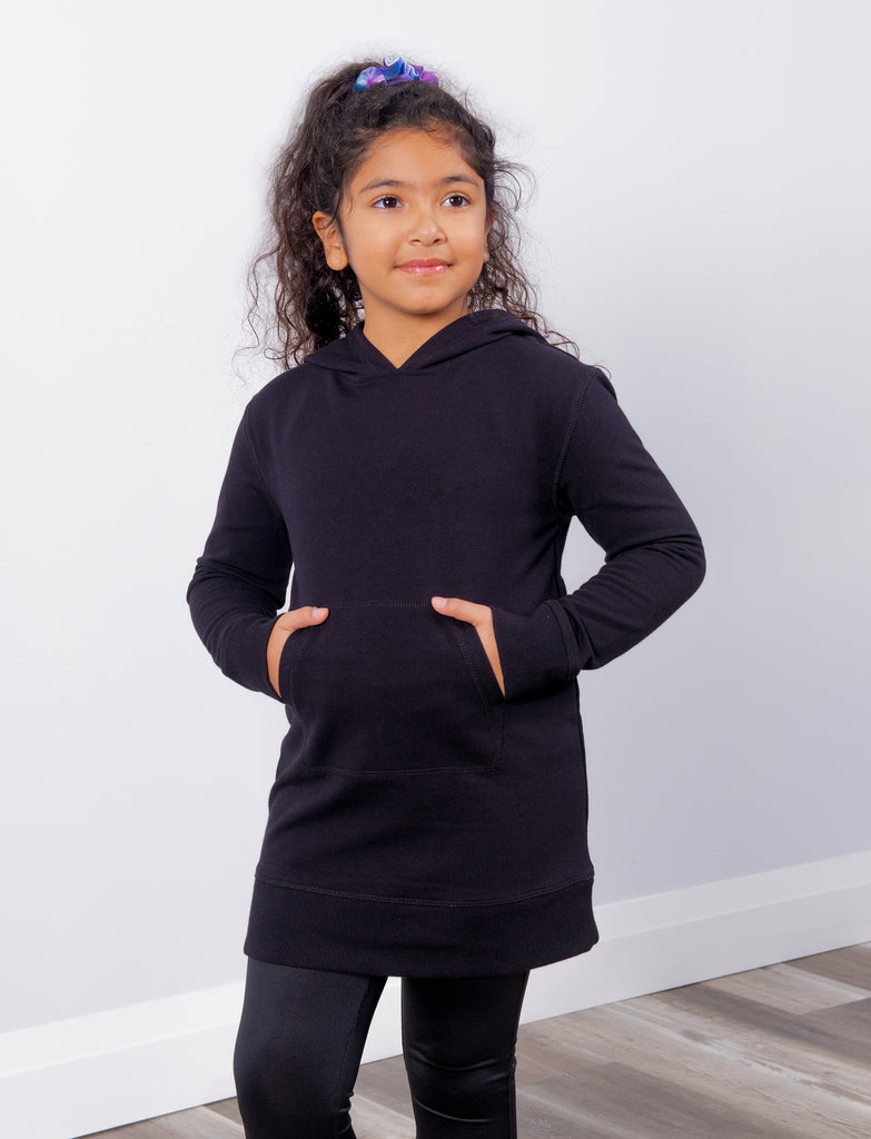 GIRLS 2-6 HOODED TUNIC DRESS