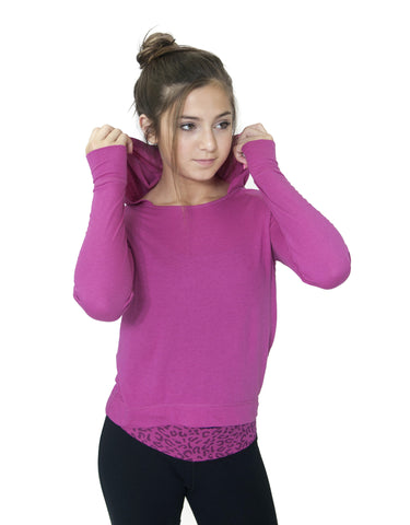 GIRLS HOODED L/S T-SHIRT