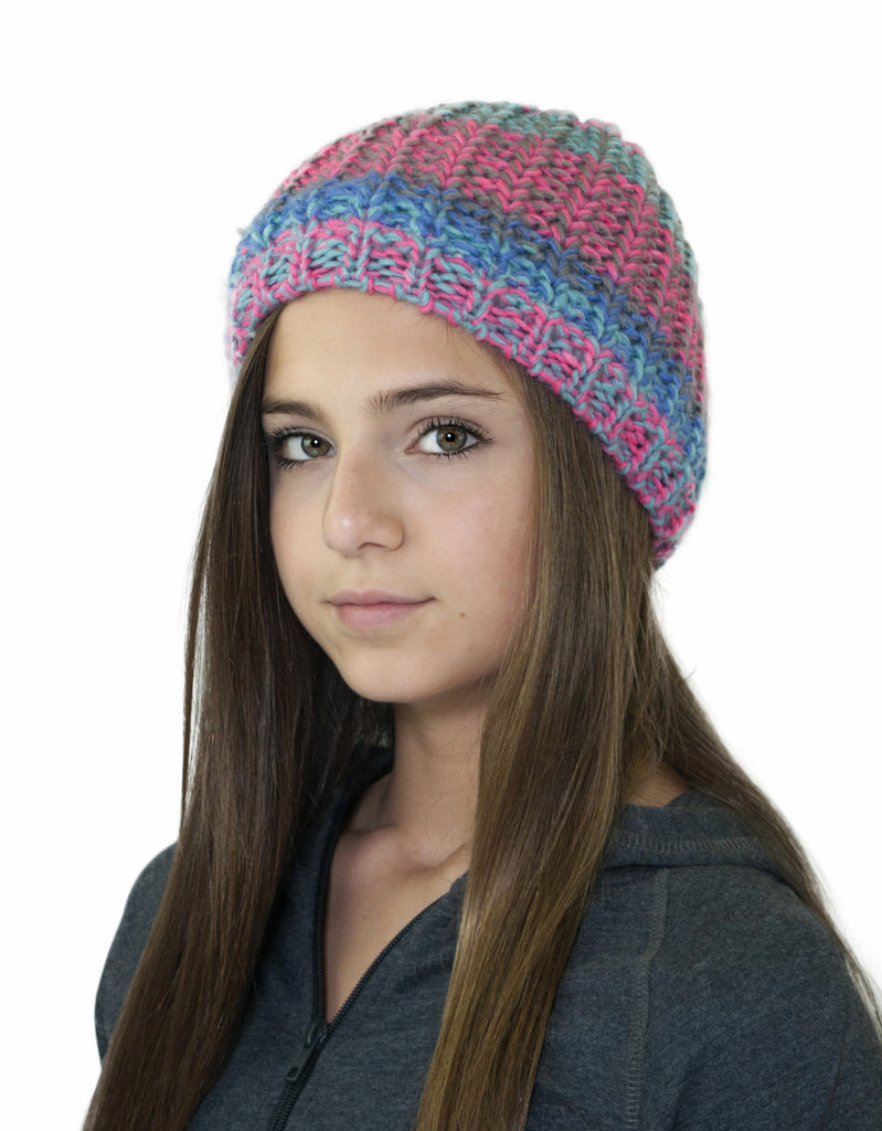 GIRL'S 4-16 OMBRE KNIT TOQUE