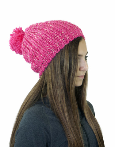 GIRL'S 4-16 SEQUINED KNIT TOQUE W/ POM POM
