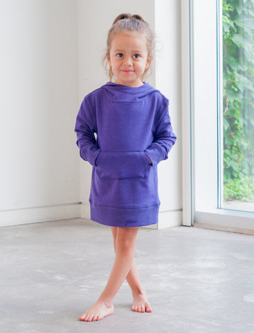 GIRLS 2-6 STRETCH COTTON TUNIC DRESS